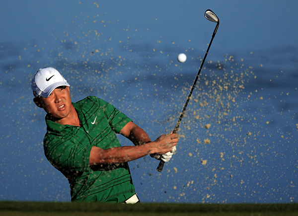 Anthony Kim trounced his opening opponent, Wen-Tang Lin, 7 and 5.