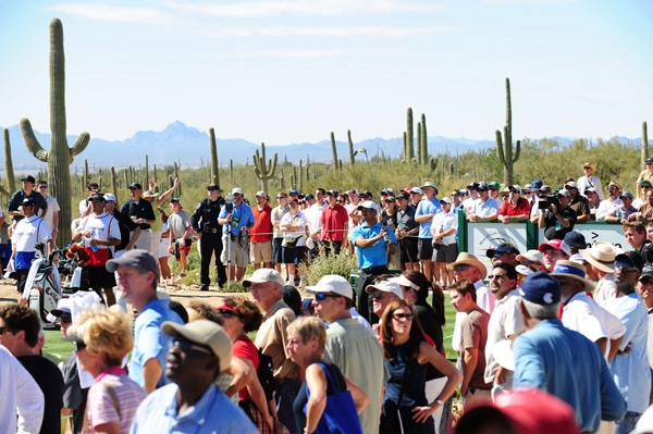 As expected, Woods drew a huge gallery at Dove Mountain.