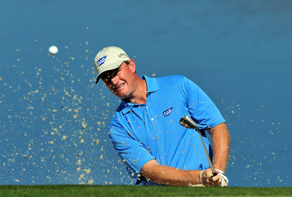 Ernie Els moved on after Luke Donald injured his wrist.