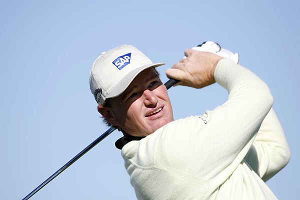 Ernie Els made five birdies and two bogeys to shoot a 67.