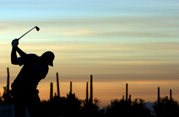 Before his match against Stewart Cink, Els warmed up in the pre-dawn light at the 2008 WGC-Accenture Match Play Championship.                                                      More Ernie Els:                           • Special Section: Ernie Els                           • Els wins 1994 U.S. Open at Oakmont                           • Els wins 1997 U.S. Open at Congressional                           • Els wins 2002 British Open at Muirfield