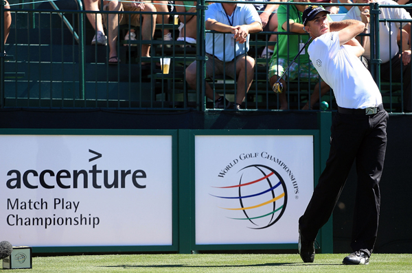 2009 WGC-Accenture Match Play Championship: SemifinalsGeoff Ogilvy reached the final match for the third time in four years after defeating Stewart Cink, 4 and 2.