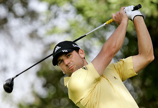 Sergio Garcia made five birdies and three bogeys for a two-under 70.