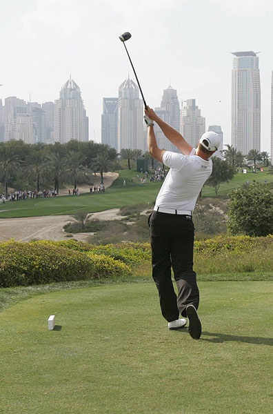 Henrik Stenson double bogeyed the final hole to finish at eight under par.
