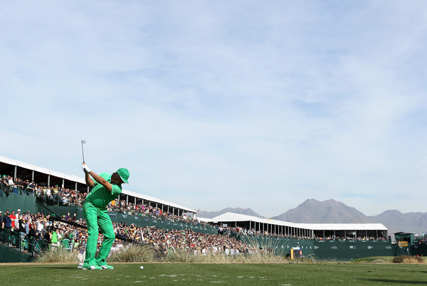 Rickie Fowler shot a career-best 62 to move into contention.