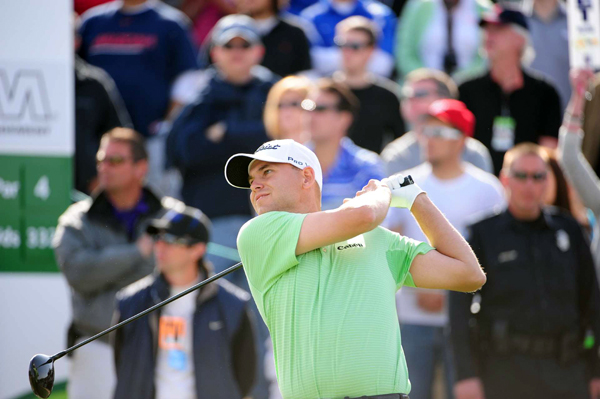 Bill Haas birdied Nos. 17 and 18 to finish two shots off the lead.