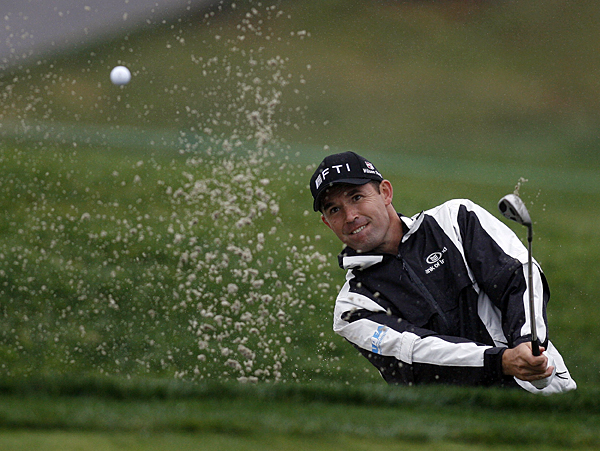 Padraig Harrington made the cut by two shots after a 2-over 74.