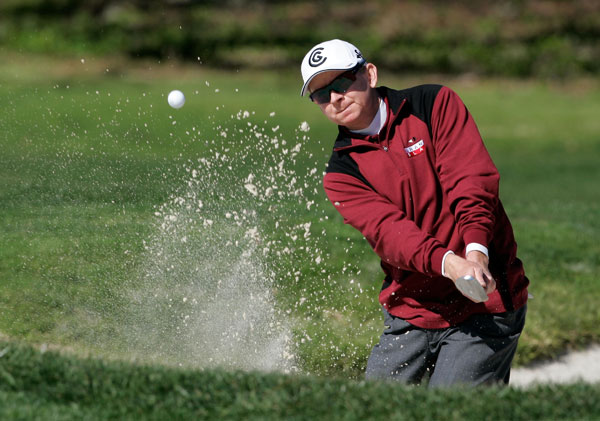 First Round of the AT&T Pebble Beach National Pro-Am                           New Mexico's Kent Jones holds the first round lead after a bogey-free round of 66.