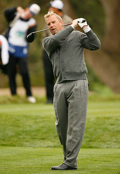 Actor Kevin Costner played at Pebble Beach on Wednesday with Sports Illustrated's Alan Shipnuck.
