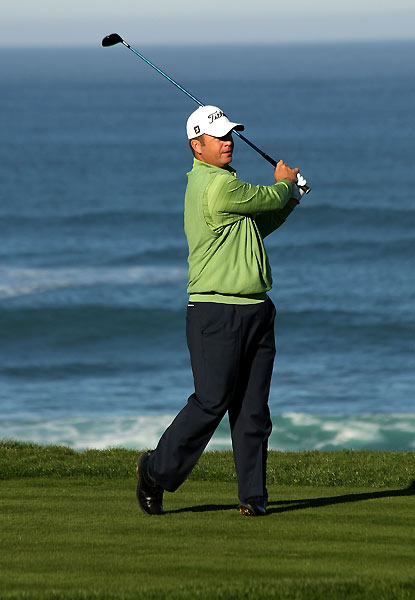 Dudley Hart birdied three of his last four holes to finish at nine under.