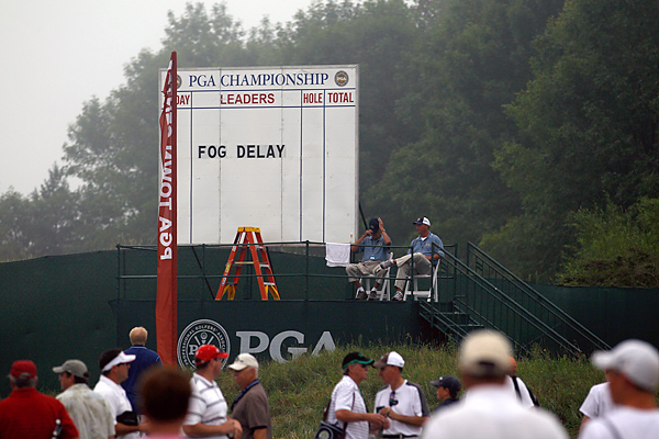 Fog delayed the start of play for the second straight day Friday morning at Whistling Straits.