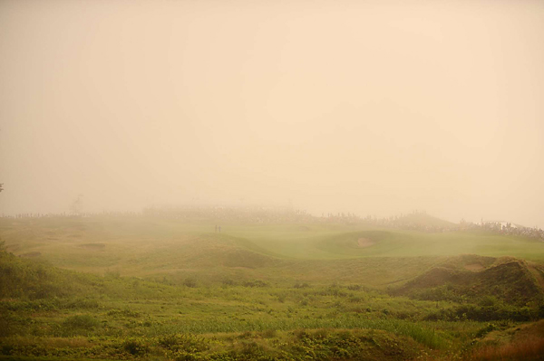 Fog blanketed the Straits Course Thursday morning, delaying the start of the tournament for three hours.