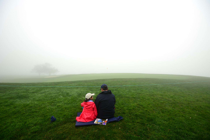 Fog wiped out play for most of Saturday. The Farmers Insurance Open is scheduled to resume Sunday at 10 a.m. ET. More than likely, the tournament will end on Monday.