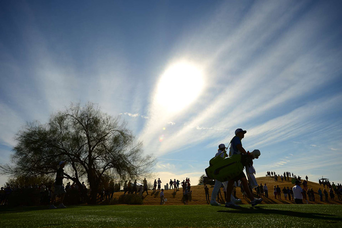 Several PGA Tour events have been plagued by bad weather this season, but it was another perfect day at TPC Scottsdale.