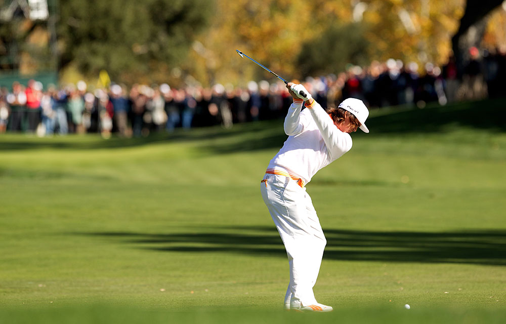 Rickie Fowler made an eagle, three birdies, three bogeys, a double bogey and a triple bogey for a three-over 75.
