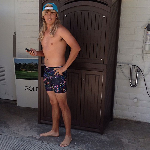 @RickieFowlerPGA: Just heading out for an afternoon jog while on set with @cobragolf #spandex #mullet #letsparty