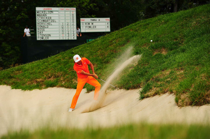 Rickie Fowler bogeyed three of the last four holes to tie for 10th.