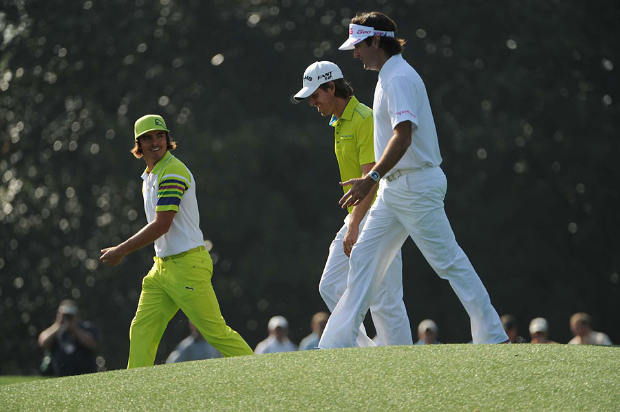 Rickie Folwer, Aaron Baddeley and Bubba Watson played their practice round together Wednesday.
