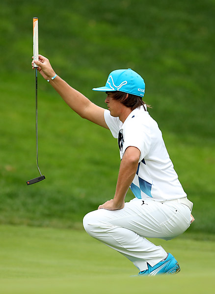 Rickie Fowler's round included six birdies and two bogeys, in addition to a double and triple bogey.