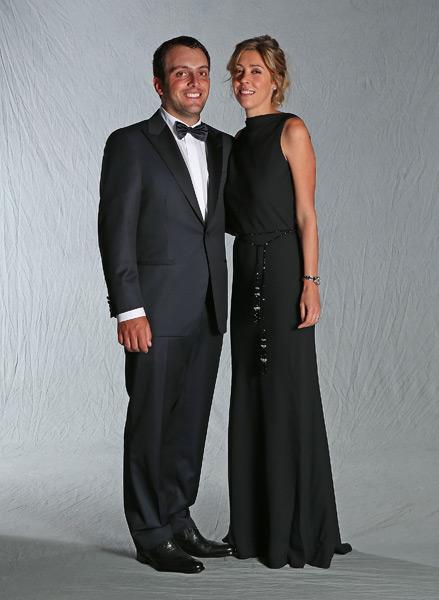 Francesco Molinari and his wife, Valentina.