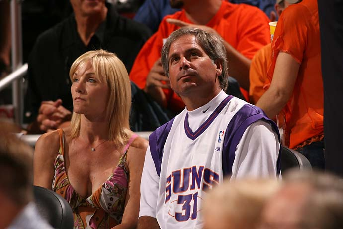 Phoenix Suns fan Fred Couples watches Game 7 of the Western Conference semifinals versus the Los Angeles Clippers in Phoenix. Couples is a huge sports fan, especially of basketball and baseball.