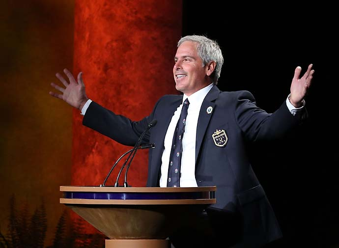 """Thanks for sending a kid from Seattle to the Hall of Fame. This is the coolest night of my life."" Fred Couples at his World Golf Hall of Fame induction ceremony in May 2013."