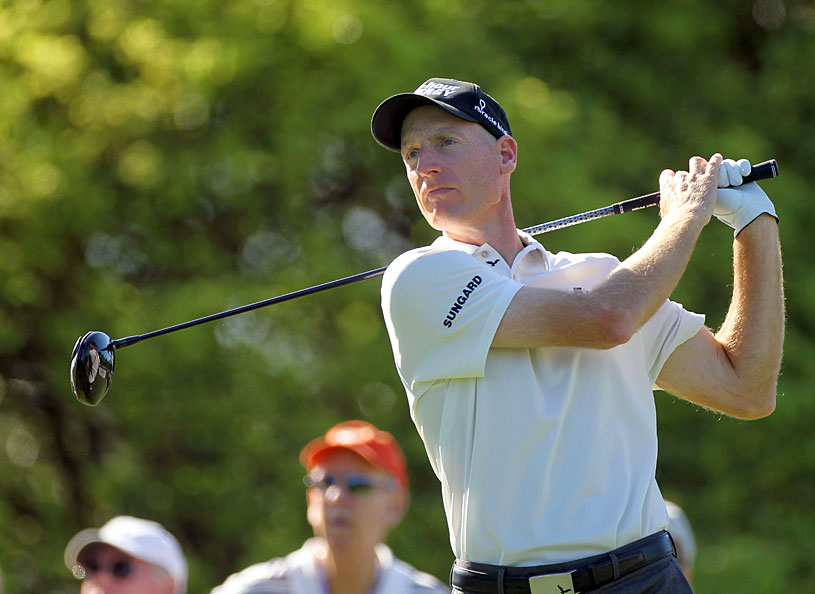 Jim Furyk made four birdies and three bogeys.