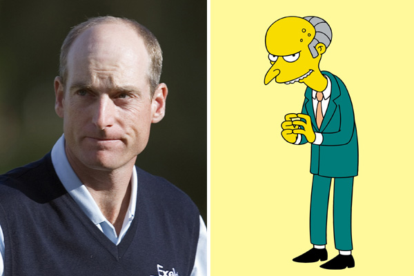 Jim Furyk and Mr. Burns