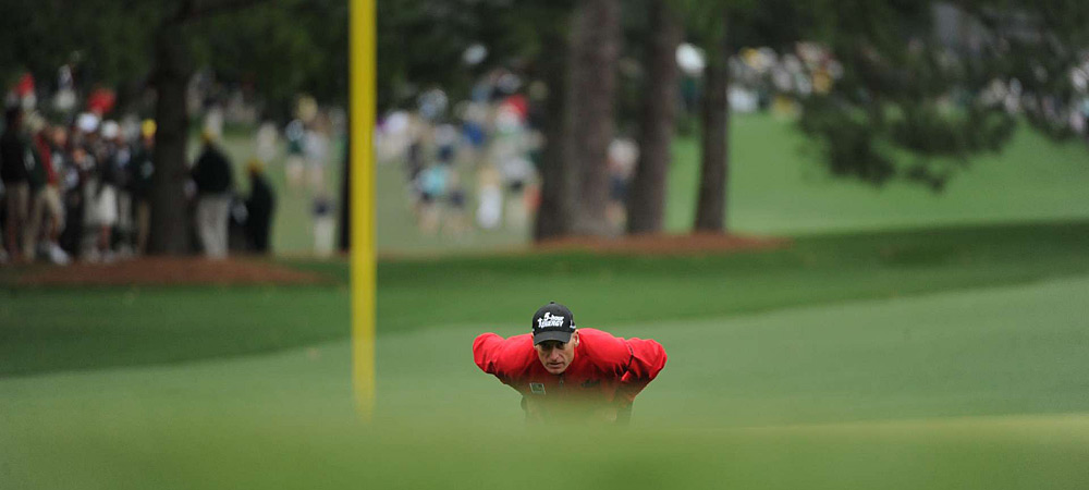 Jim Furyk made five bogeys and four birdies for a 73.