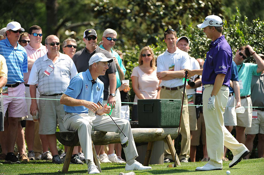 Tour veterans Jim Furyk and David Toms shared their practice round together.