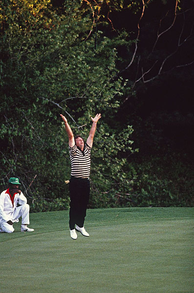 In his first start at Augusta National, Fuzzy Zoeller won the 1979 Masters in a playoff over Ed Sneed and Watson.
