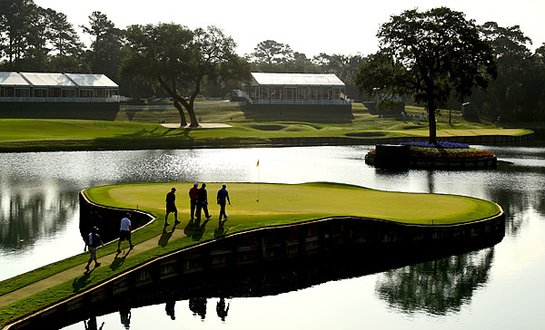 The par-3 17th hole should provide plenty of drama this weekend.