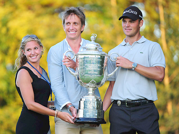 Allison Micheletti                                                      Martin Kaymer's girlfriend celebrated the German's first major title (along with manager Johan Elliott) at the 2010 PGA. There are rumors that the pair has since split.