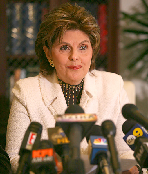 Gloria Allred                       Representing Rachel Uchitel, mistress number one in the National Enquirer story that started it all, Allred scheduled a press conference that was abruptly canceled Dec. 3. The likely reason, according to Allred's daughter, CBS News legal analyst Lisa Bloom: a multi-million-dollar payoff.
