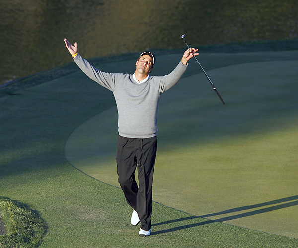 "Like Sabbatini, Ames wears his confidence proudly, makes little or no effort to self-censor, and has gotten burned for it, most memorably by tugging on Superman's cape. Ames told the AP before playing Tiger Woods at the 2006 WGC-Accenture Match Play, ""Anything can happen, especially where he's hitting the ball."" Woods beat Ames, 9 and 8.Stephen Ames                                                       Like Sabbatini, Ames wears his confidence proudly, makes little or no effort to self-censor, and has gotten burned for it, most memorably by tugging on Superman's cape. Ames told the AP before playing Tiger Woods at the 2006 WGC-Accenture Match Play, ""Anything can happen, especially where he's hitting the ball."" Woods beat Ames, 9 and 8."