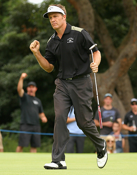 birdied his last two holes to rally from a seven-shot deficit and end a nine-year drought in his home country at the Australian Masters.