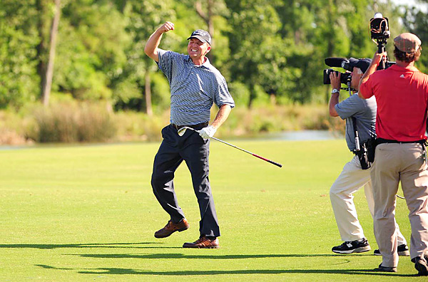 birdied three of the final nine holes at TPC Louisiana for a 5-under 67 and a two-stroke victory over Jeff Overton. It was Bohn's first win since 2005.