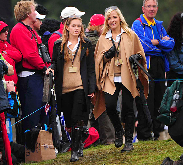 Alexandra Browne                                                      Rickie Fowler's girlfriend (left, with Amy Mickelson) made the trip to the 2010 Ryder Cup.
