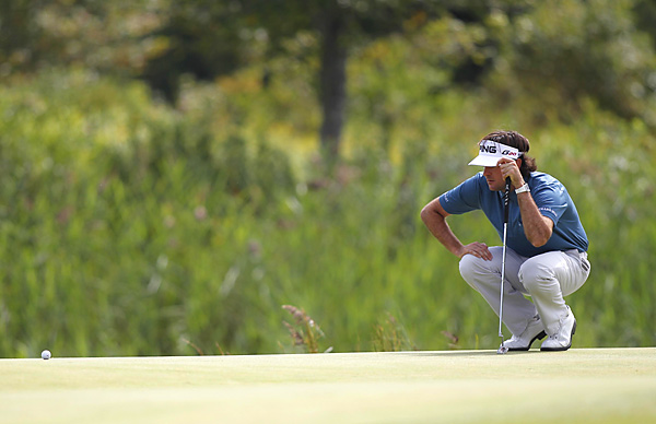 Bubba Watson began the final round with a one-shot lead, but 23 players were within four shots. He made three bogeys on the front nine to tumble out of contention.