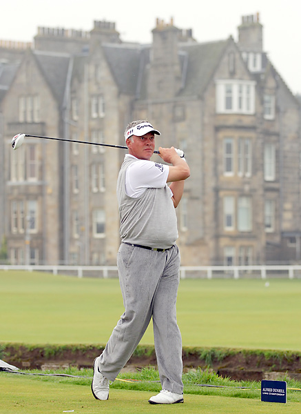 Darren Clarke shot a two-under 70 at the Old Course and is one over for the event.