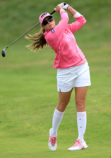 Creamer sported a new look at the 2010 Women's British Open.