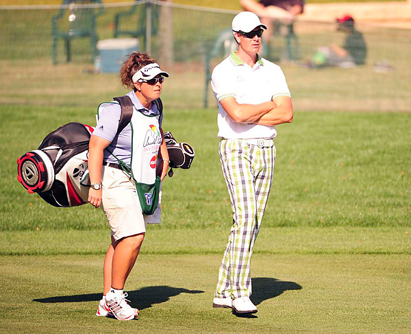 Fanny Sunesson and Henrik Stenson                           The most accomplished female caddie is Fanny Sunneson, from Sweden, who has worked for Nick Faldo, Fred Funk and now Henrik Stenson.