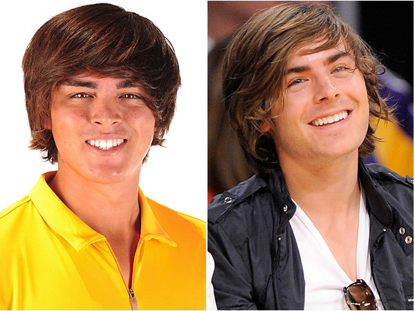 Rickie Fowler and Zac Effron