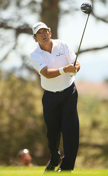 finished with rounds of 65 and 67 to make the three-way playoff, but he double-bogeyed the first hole in sudden death.