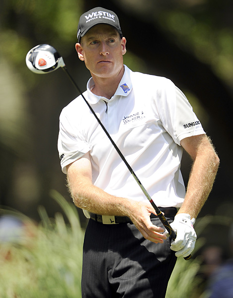 Jim Furyk played alongside Donald and began the day one shot back. He stumbled to a 76 to tie for 21st.