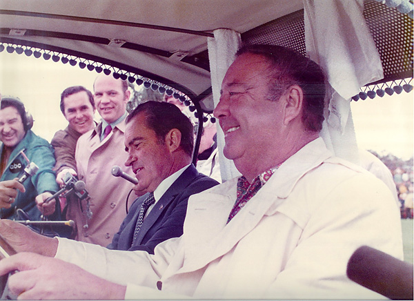 Jackie Gleason and Richard Nixon, Eastern Doral Pro-Am, 1970                                              When Gleason hosted the Doral Eastern Golf pro-am in 1970, he landed the biggest name possible in sitting President Richard Nixon.