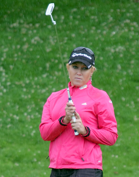 Natalie Gulbis matched Creamer with a two-under 70.