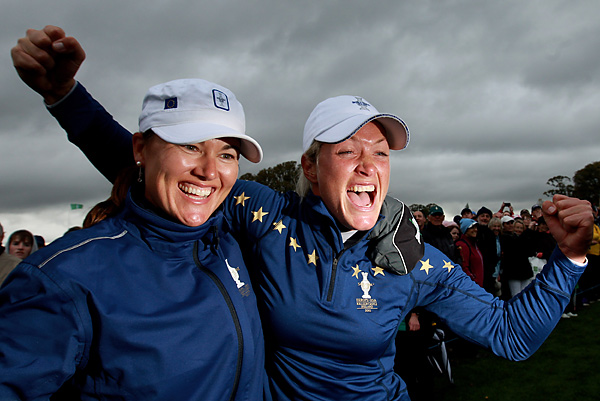 Sophie Gustafson and Pettersen were two of the European team's biggest stars, going a combined 7-1 for the week.