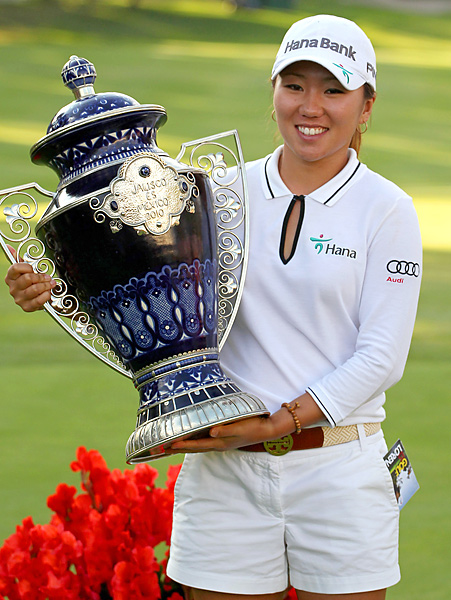 The golf itself was thrilling, as In-Kyung Kim shot a final-round 64 to race past Suzann Pettersen, the third-round leader. But the reason it rises to top-5 status is because of what Kim did after her victory: She donated her entire winnings, $220,000, to charity. Half to a Mexican foundation run by Ochoa, half to an American charity. It was a stirring act from a player, born in Korea and now a U.S. resident, who has no showboat in her.
