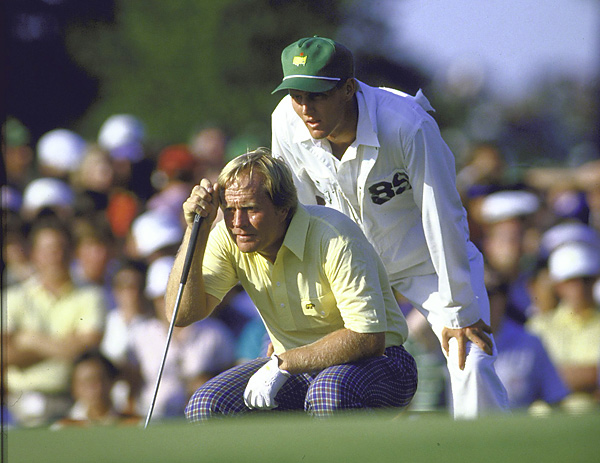 Jack Nicklaus and Jack Nicklaus II                           A player's win at Augusta National makes the winning caddie a permanent part of the lore of the game, as it did to Jackie Nicklaus, who carried his 46-year-old father's bag for his 1986 win.